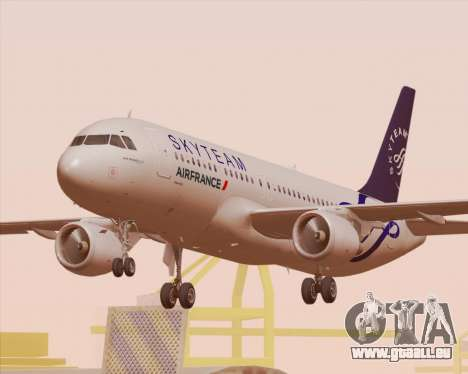Airbus A320-200 Air France Skyteam Livery für GTA San Andreas Räder