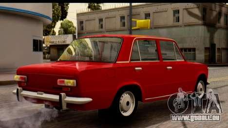 VAZ 2101 Zhiguli pour GTA San Andreas sur la vue arrière gauche