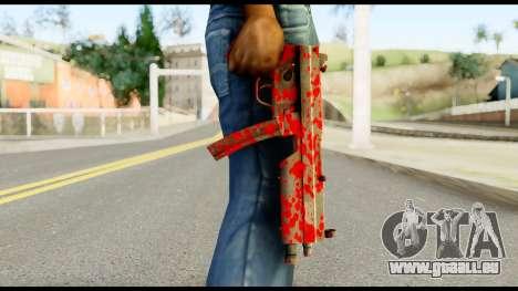 MP5 with Blood für GTA San Andreas dritten Screenshot