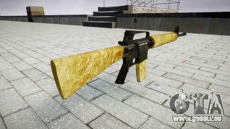 Die M16A2 Gewehr gold für GTA 4 Sekunden Bildschirm