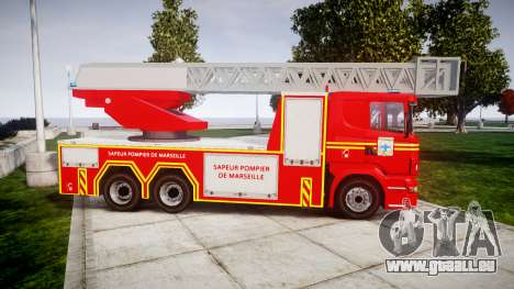 Scania R580 Marseille Fireladder [ELS] für GTA 4 linke Ansicht