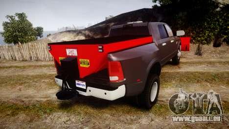 Dodge Ram 3500 Plow Truck [ELS] pour GTA 4 Vue arrière de la gauche