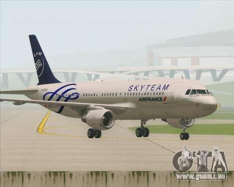 Airbus A320-200 Air France Skyteam Livery pour GTA San Andreas vue de dessous