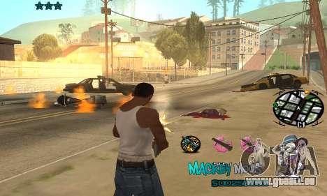 C-HUD Mickey Mouse pour GTA San Andreas troisième écran