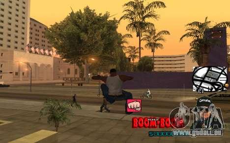 C-HUD Boom-Boom pour GTA San Andreas quatrième écran