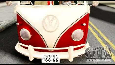 Volkswagen T1 pour GTA San Andreas vue de droite