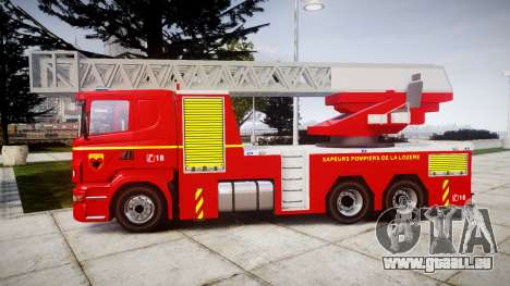 Scania R580 Paris Fireladder [ELS] pour GTA 4 est une gauche