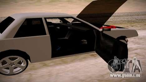 Manana BOOM pour GTA San Andreas sur la vue arrière gauche