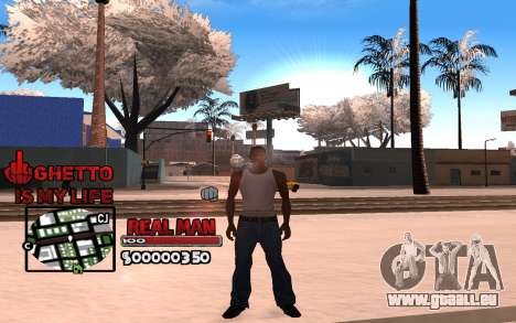 С-HUD Ghetto ist Mein Leben für GTA San Andreas