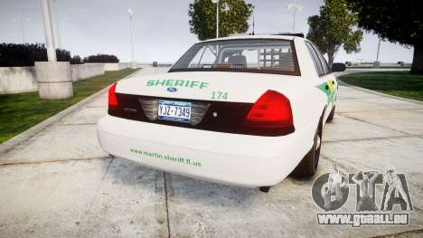 Ford Crown Victoria Martin County Sheriff [ELS] für GTA 4 hinten links Ansicht