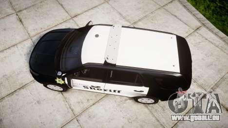 Ford Explorer 2013 County Sheriff [ELS] für GTA 4 rechte Ansicht