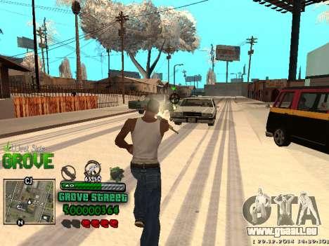 C-HUD Grove Street für GTA San Andreas achten Screenshot
