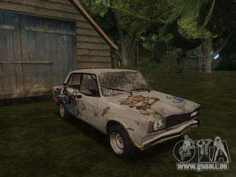 VAZ 2105 Rusty Trog für GTA San Andreas Rückansicht