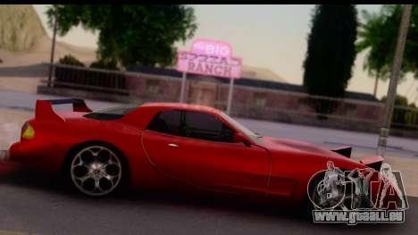 New ZR-350 (ZR-380) v1.0 pour GTA San Andreas sur la vue arrière gauche