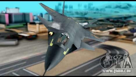 Chenyang J-20 BF4 pour GTA San Andreas vue de droite