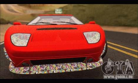 Vapid Bullet Gt (GTA IV) (Stickers Edition) für GTA San Andreas