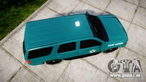 Chevrolet Tahoe 2013 Game Warden [ELS] pour GTA 4 est un droit