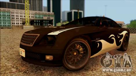 Schyster Fusilade Sport 1.0 (IVF) pour GTA San Andreas vue de dessus