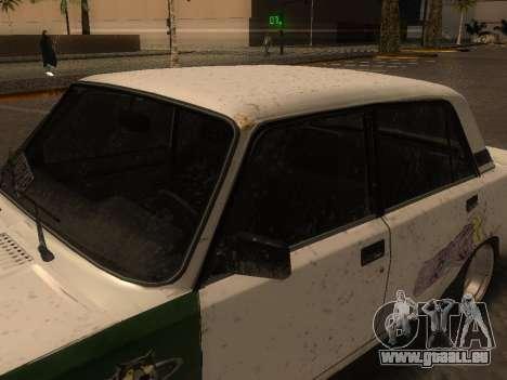 VAZ 2105 Rusty Trog für GTA San Andreas zurück linke Ansicht