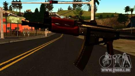 Dunkle AKS-74U v2 für GTA San Andreas