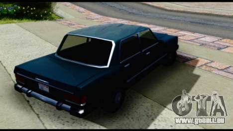 Quatre Feltzer pour GTA San Andreas sur la vue arrière gauche