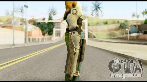 Plasmagun from Metal Gear Solid pour GTA San Andreas troisième écran