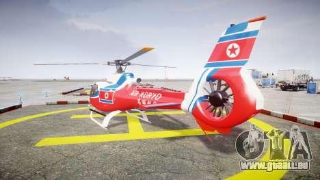 Eurocopter EC130 B4 Air Koryo für GTA 4 hinten links Ansicht