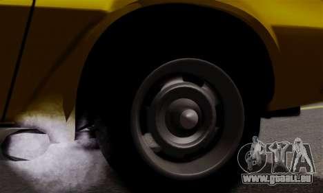 Chevrolet Camaro Mk.II pour GTA San Andreas vue intérieure