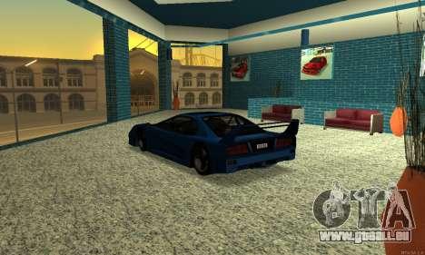 HD Turismo pour GTA San Andreas sur la vue arrière gauche