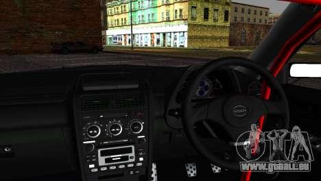 Toyota Altezza DC Hunter pour GTA San Andreas sur la vue arrière gauche
