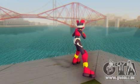 Zero From Megaman X4 pour GTA San Andreas troisième écran