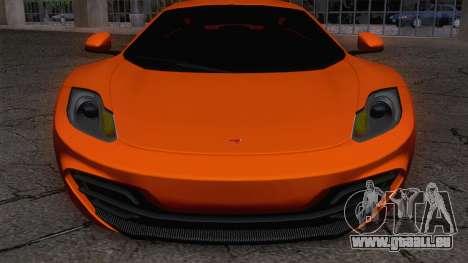 McLaren MP4-12C Gawai v1.5 pour GTA San Andreas sur la vue arrière gauche