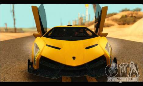 Lamborghini Veneno 2013 HQ pour GTA San Andreas laissé vue