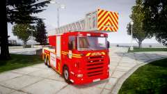 Scania R580 Marseille Fireladder [ELS] pour GTA 4