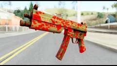 MP5 with Blood pour GTA San Andreas