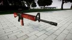 Die M16A2 Gewehr [optisch] rot