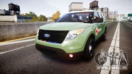 Ford Explorer 2013 Army [ELS] pour GTA 4