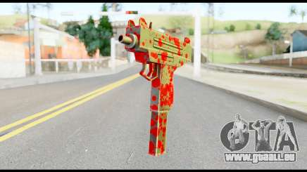 Micro SMG with Blood für GTA San Andreas