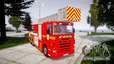 Scania R580 Marseille Fireladder [ELS] für GTA 4