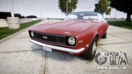 Chevrolet Camaro Mk.I 1968 rims1 pour GTA 4