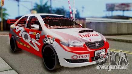 Toyota Vios TRD Racing v2 für GTA San Andreas