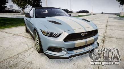 Ford Mustang GT 2015 Custom Kit gray stripes pour GTA 4