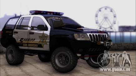 Jeep Grand Cherokee 1999 Sheriff pour GTA San Andreas