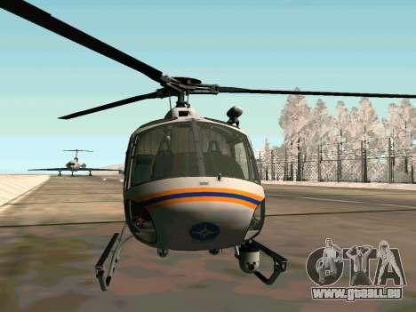 Bo 105 EMERCOM de Russie pour GTA San Andreas sur la vue arrière gauche