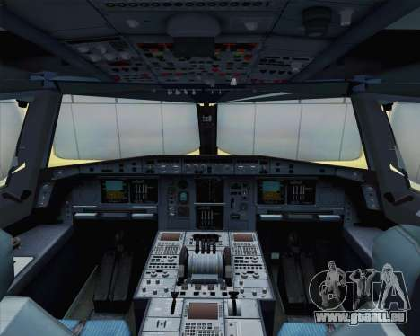 Airbus A380-800 F-WWDD Not Painted pour GTA San Andreas vue arrière