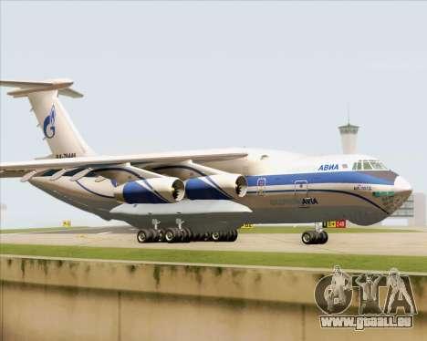 IL-76TD Gazprom Avia für GTA San Andreas linke Ansicht