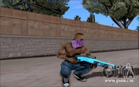 Blueline Gun Pack pour GTA San Andreas cinquième écran