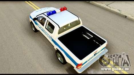 Toyota Hilux Georgia Police für GTA San Andreas Rückansicht