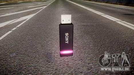 Lecteur flash USB Sony violet pour GTA 4 secondes d'écran