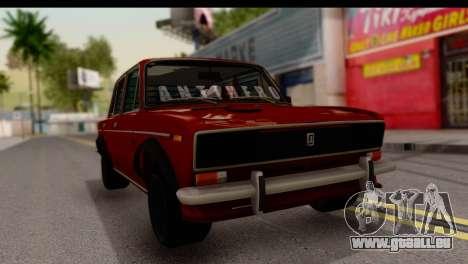 VAZ 2106 BQ pour GTA San Andreas vue de droite